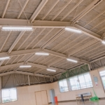 LED照明交換工事 体育館