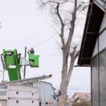 お宮の防犯灯新設・改修工事